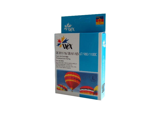 Compatible Brother LC38C (LC67C) Cyan ink cartridge
